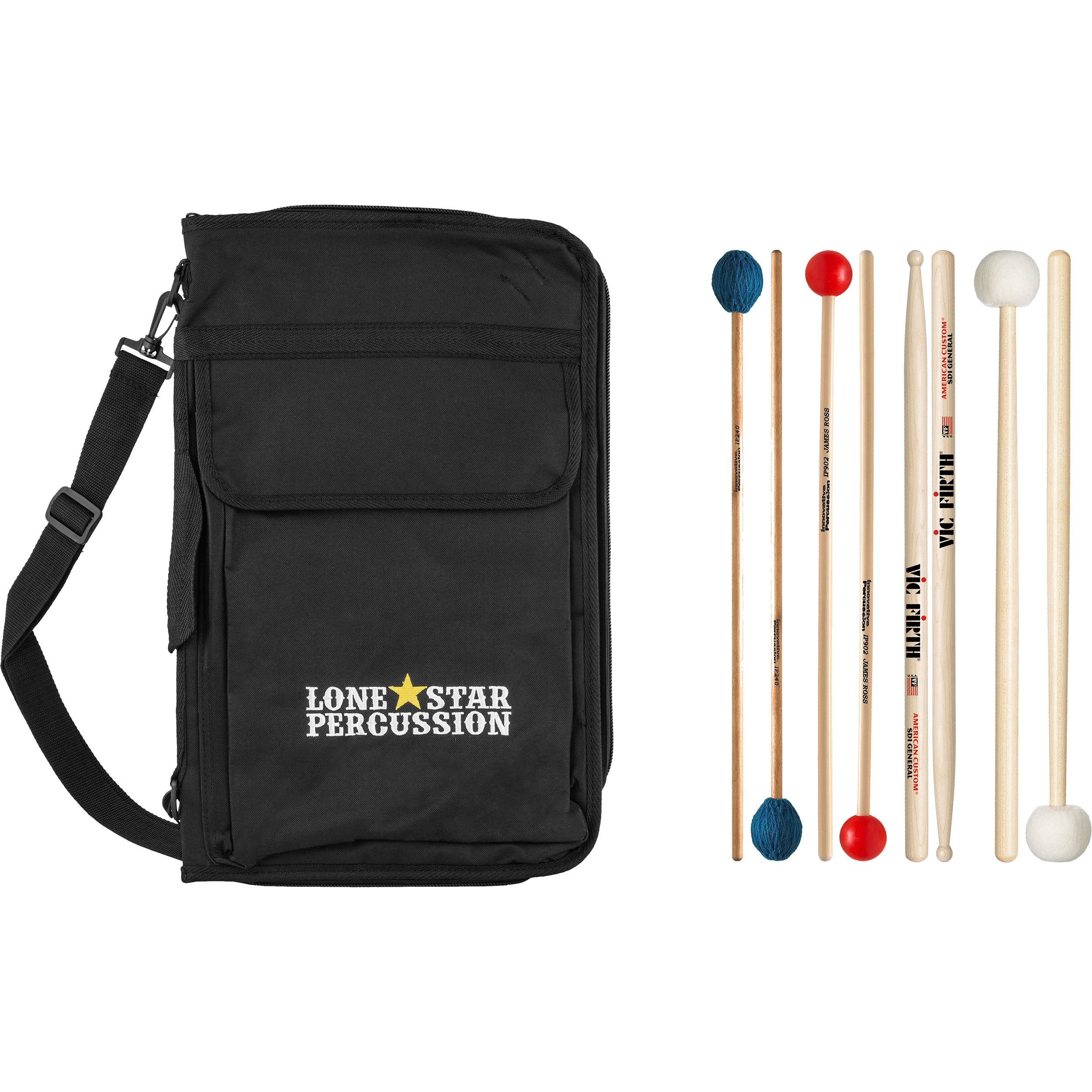 Lone Star Percussion Deluxe Stick & Mallet Pack