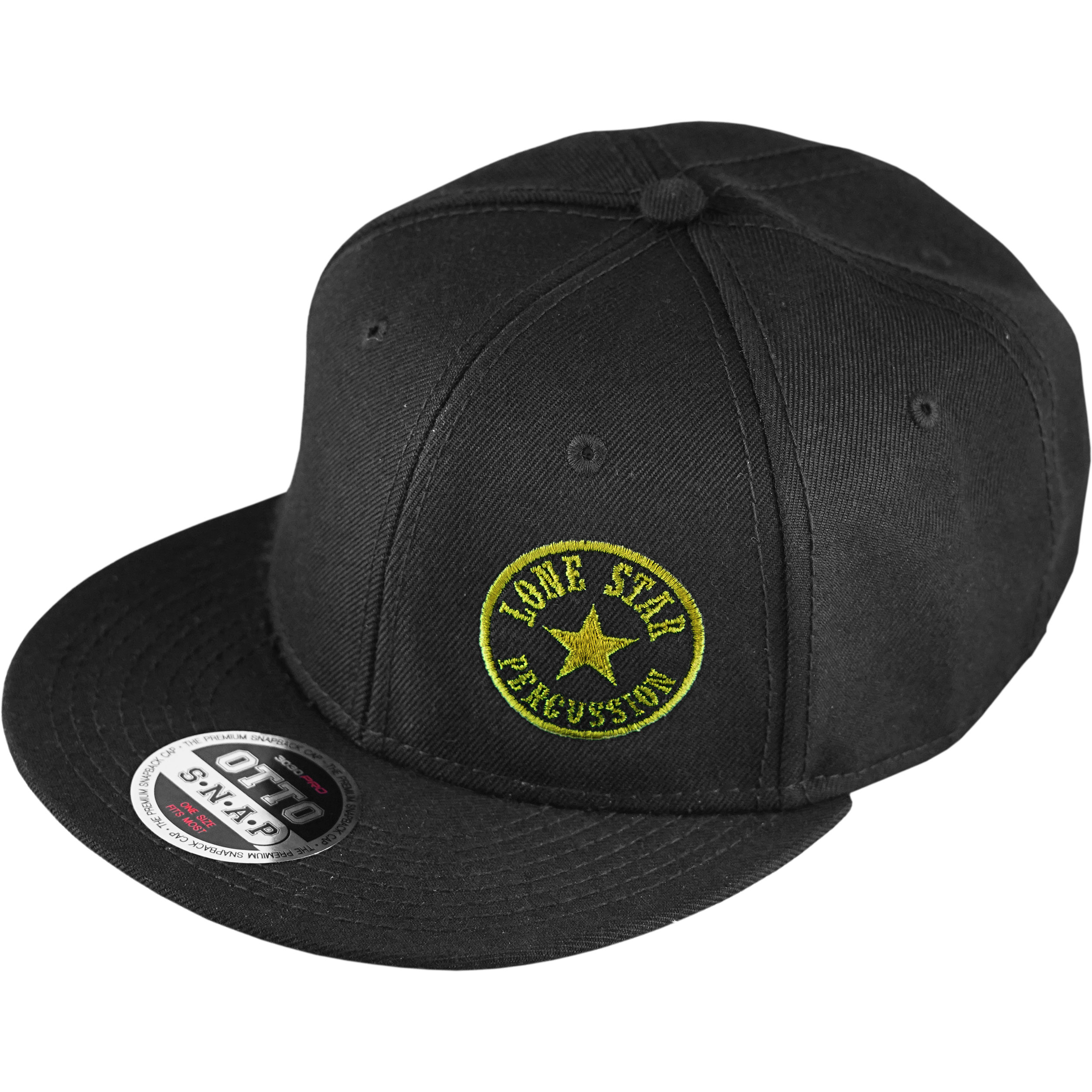 Lone Star Percussion Limited Edition Black and Yellow Snapback Baseball Cap