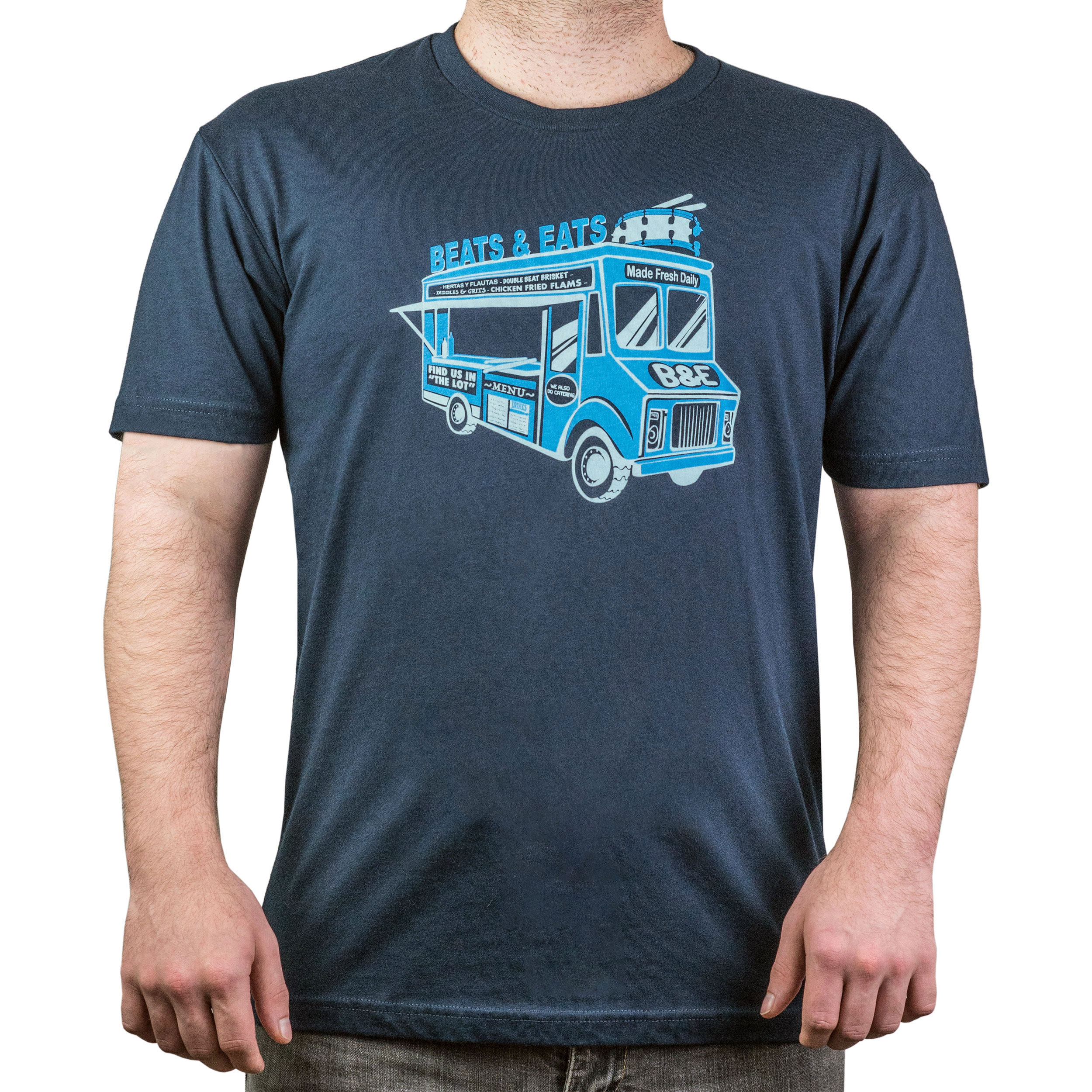 Lone Star Percussion Beats and Eats Food Truck Drummer T-Shirt