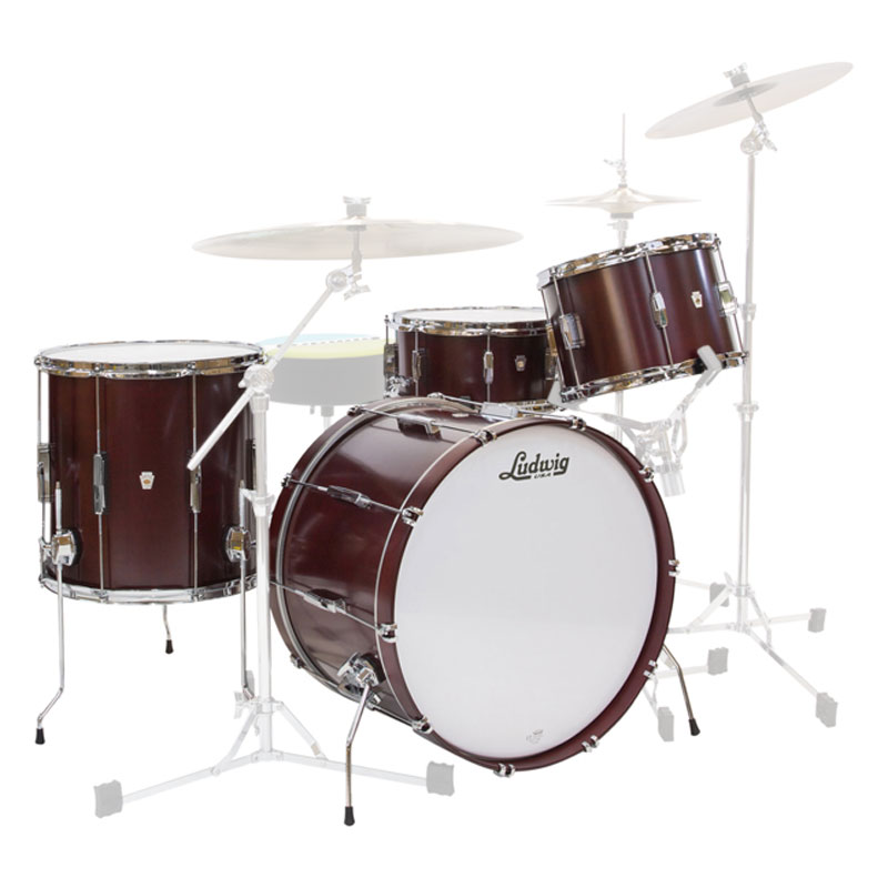 """Ludwig Club Date 3-Piece Drum Set Shell Pack (20"""" Bass, 12/14"""" Toms)"""