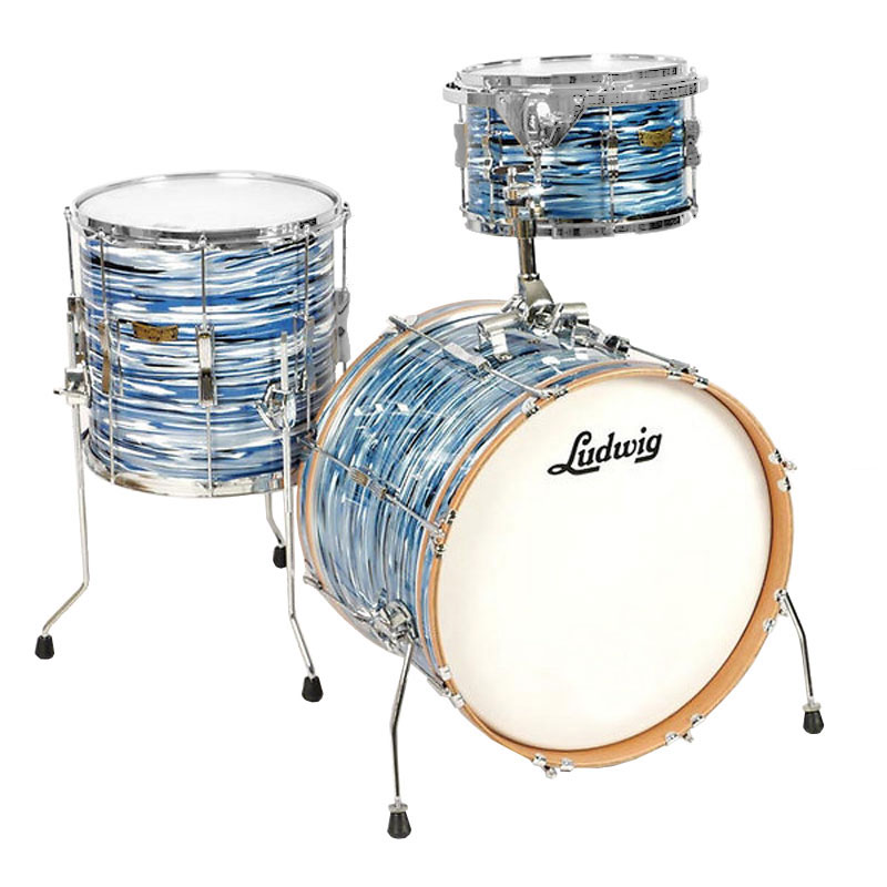 """Ludwig Club Date 3-Piece Drum Set Shell Pack (22"""" Bass, 13/16"""" Toms)"""