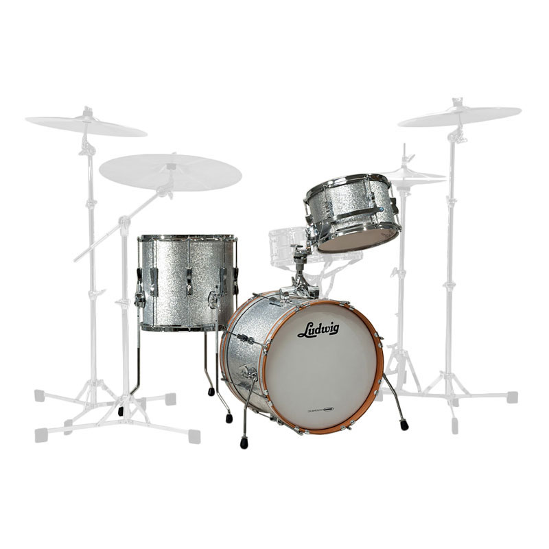 """Ludwig Club Date 3-Piece Drum Set Shell Pack (24"""" Bass, 13/16"""" Toms)"""