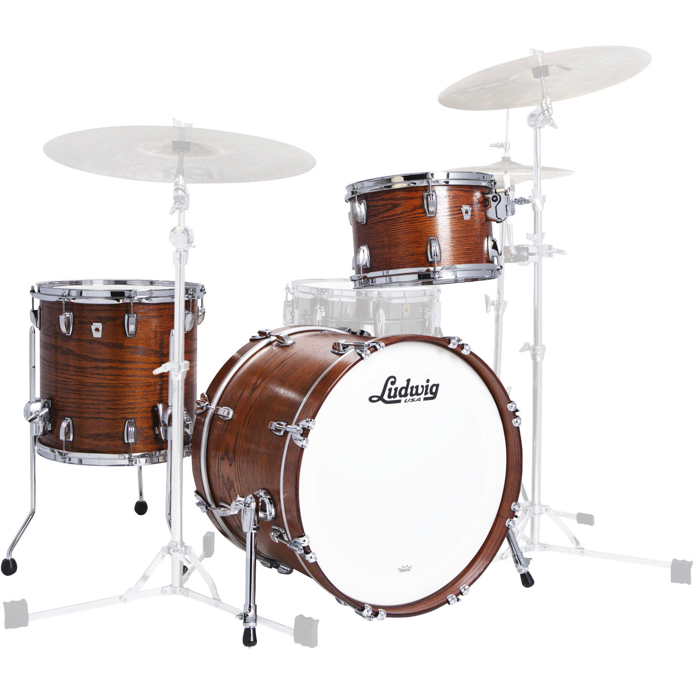 "Ludwig Classic Oak 3-Piece Downbeat Drum Set Shell Pack (20"" Bass, 12/14"" Toms)"