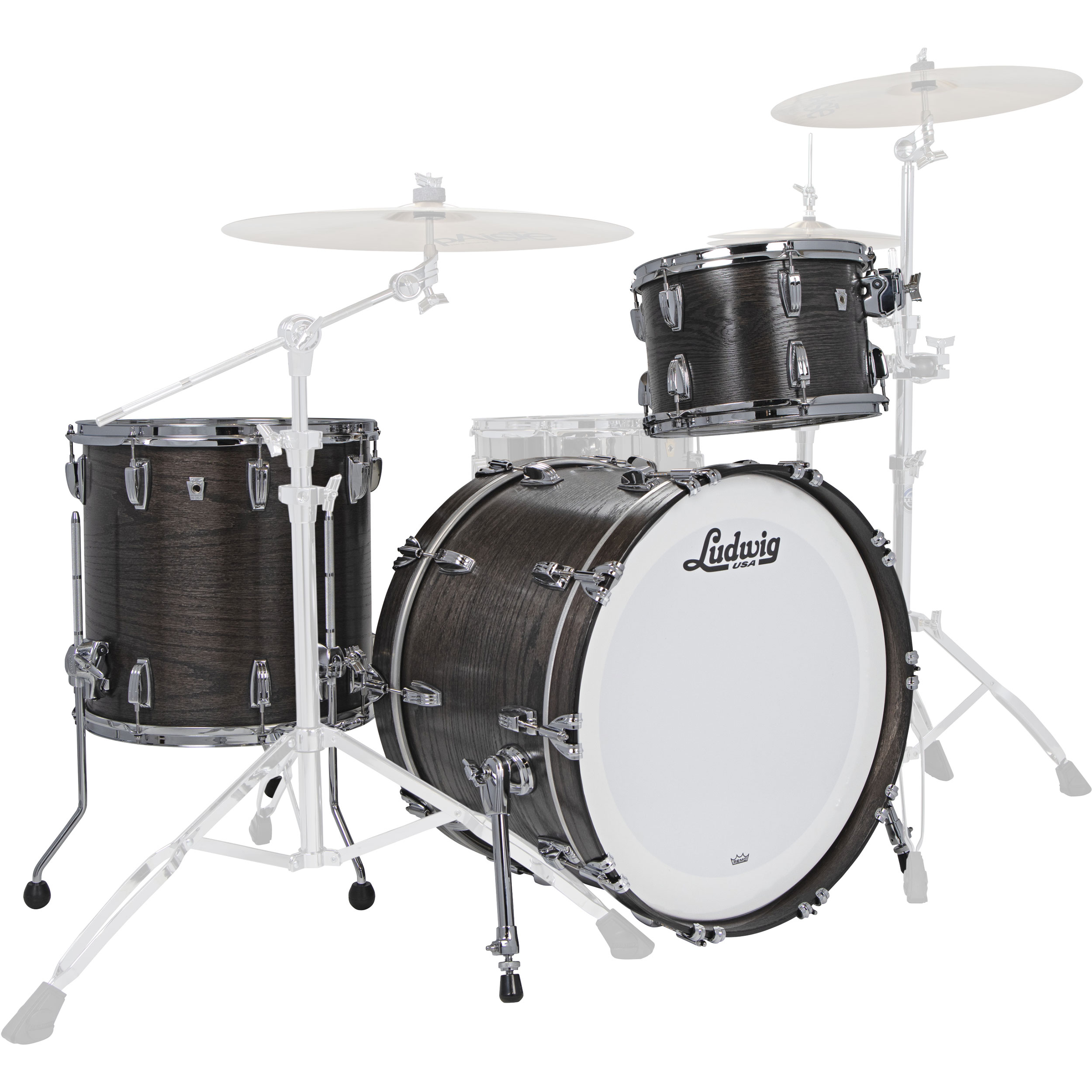 "Ludwig Classic Oak 3-Piece FAB Drum Set Shell Pack (22"" Bass, 13/16"" Toms)"