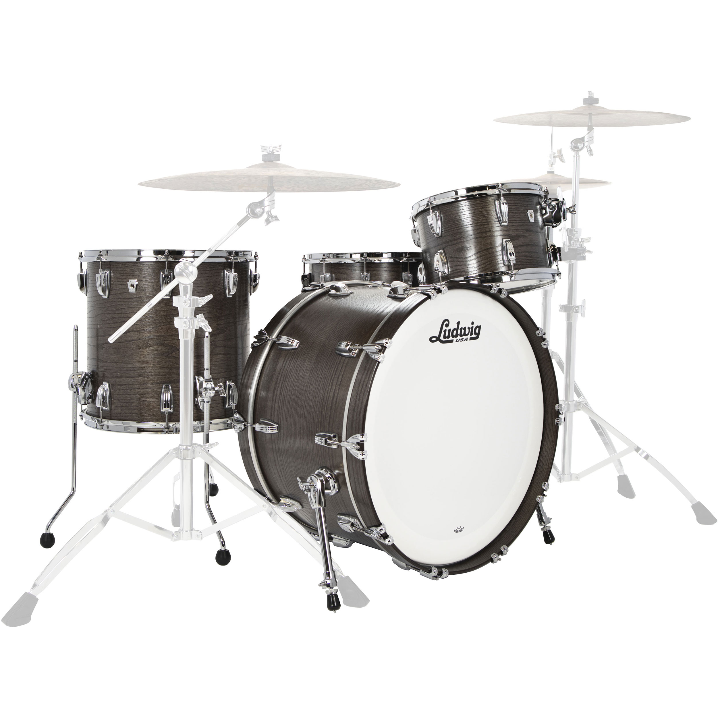 "Ludwig Classic Oak 3-Piece Pro Beat Drum Set Shell Pack (24"" Bass, 13/16"" Toms)"