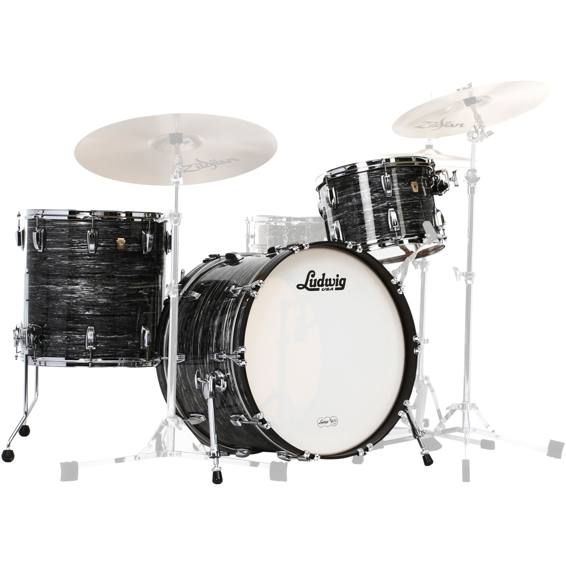 "Ludwig Classic Maple 3-Piece Pro Beat Drum Set Shell Pack (24"" Bass, 13/16"" Toms)"