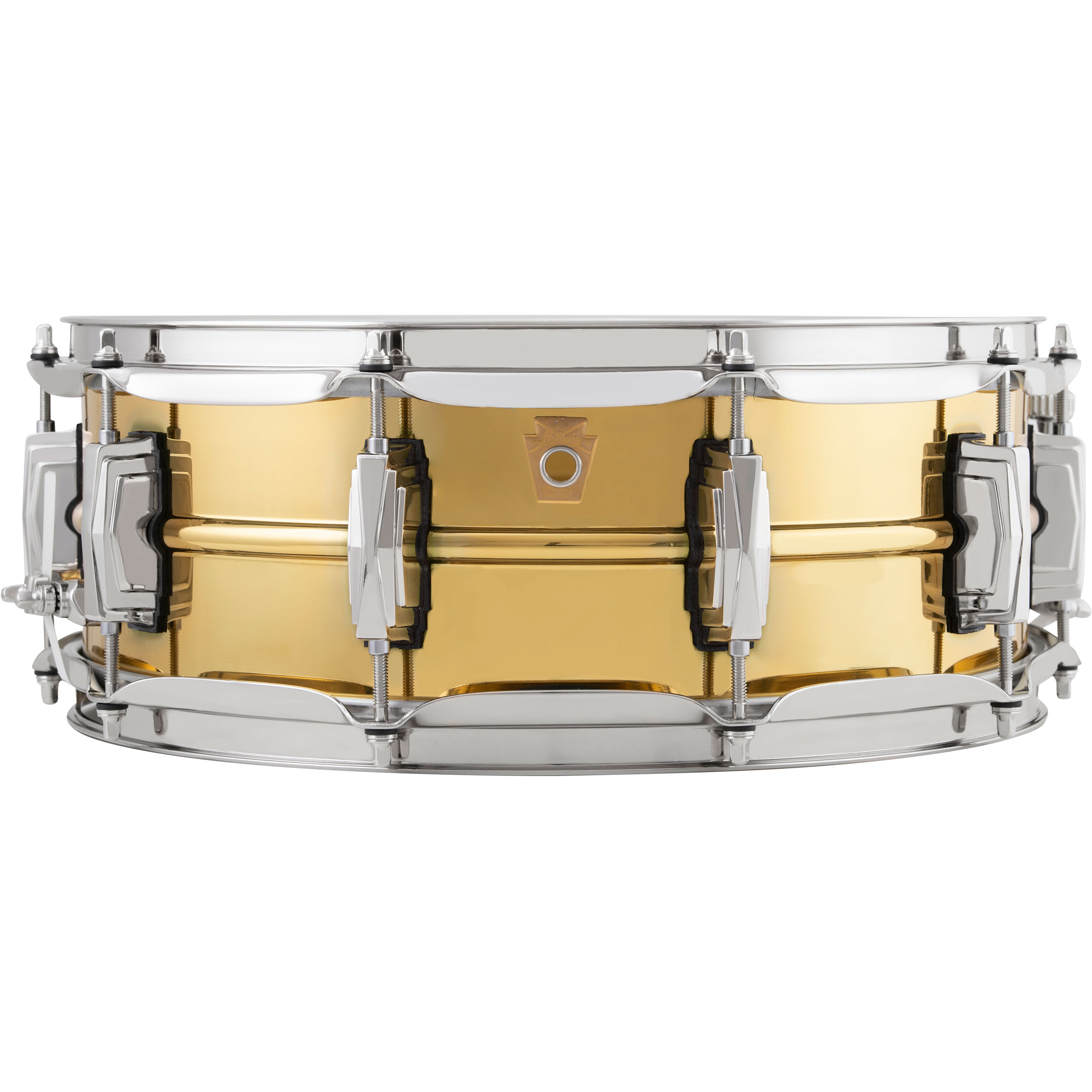 "Ludwig 5"" x 14"" Polished ""Super Brass"" Snare Drum with Nickel Hardware"