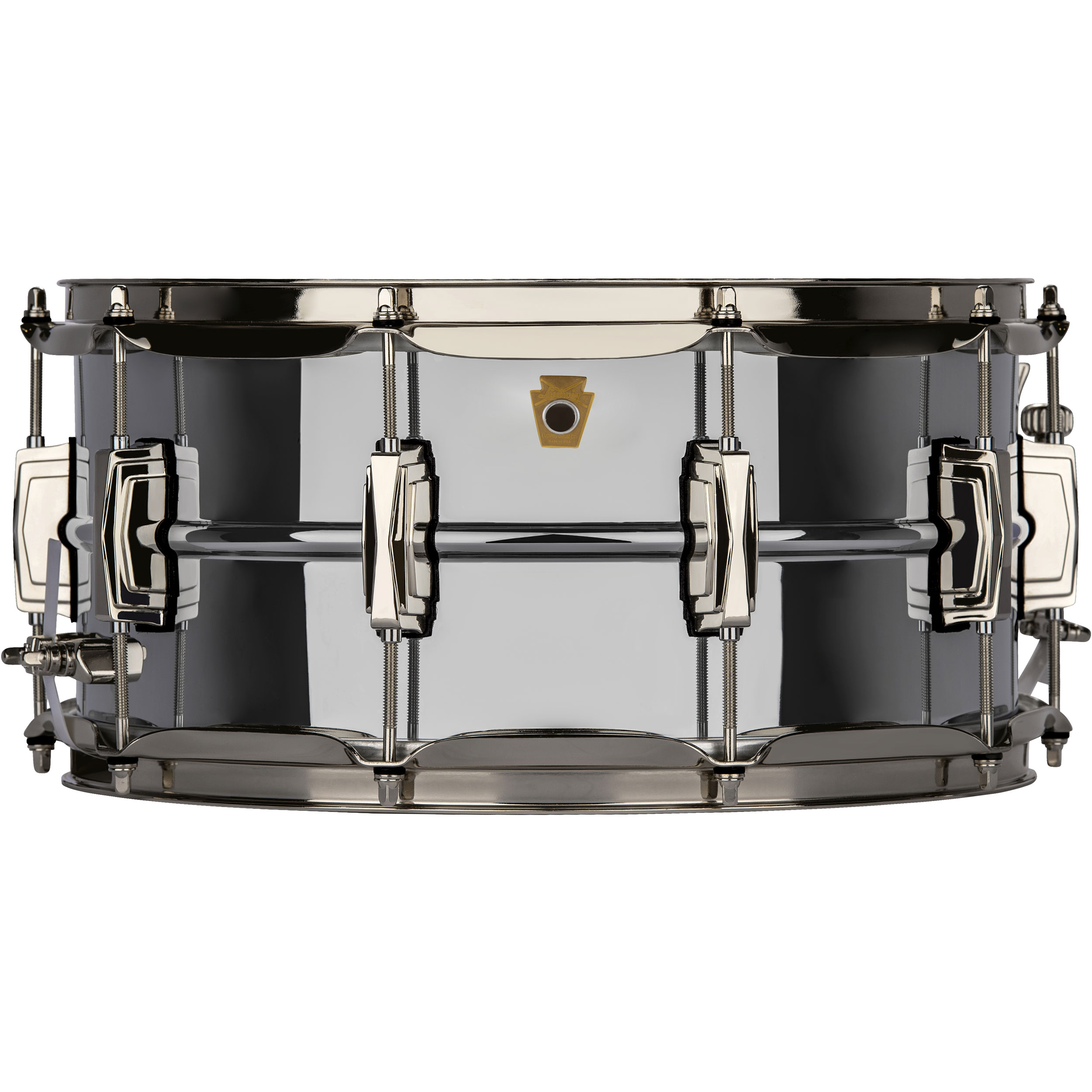 """Ludwig 6.5"""" x 14"""" Chrome Plated Brass """"Super Ludwig"""" Snare Drum with Nickel Hardware"""