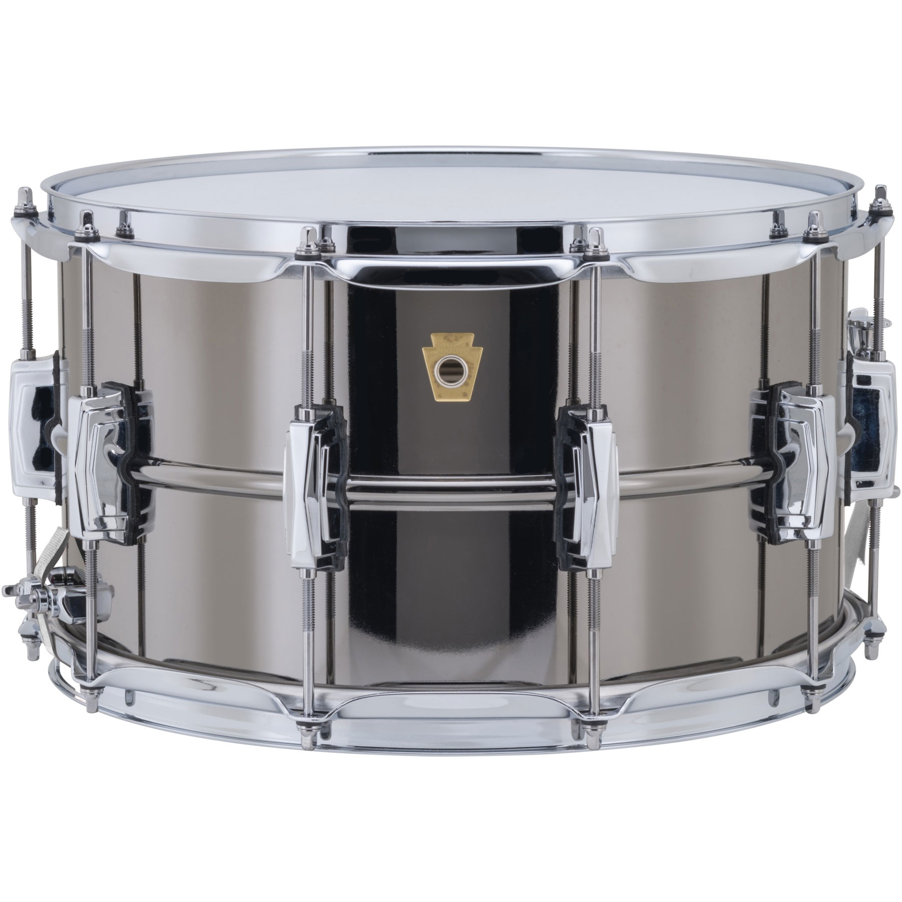 """Ludwig 8"""" x 14"""" Black Beauty Snare Drum with Imperial Lugs"""