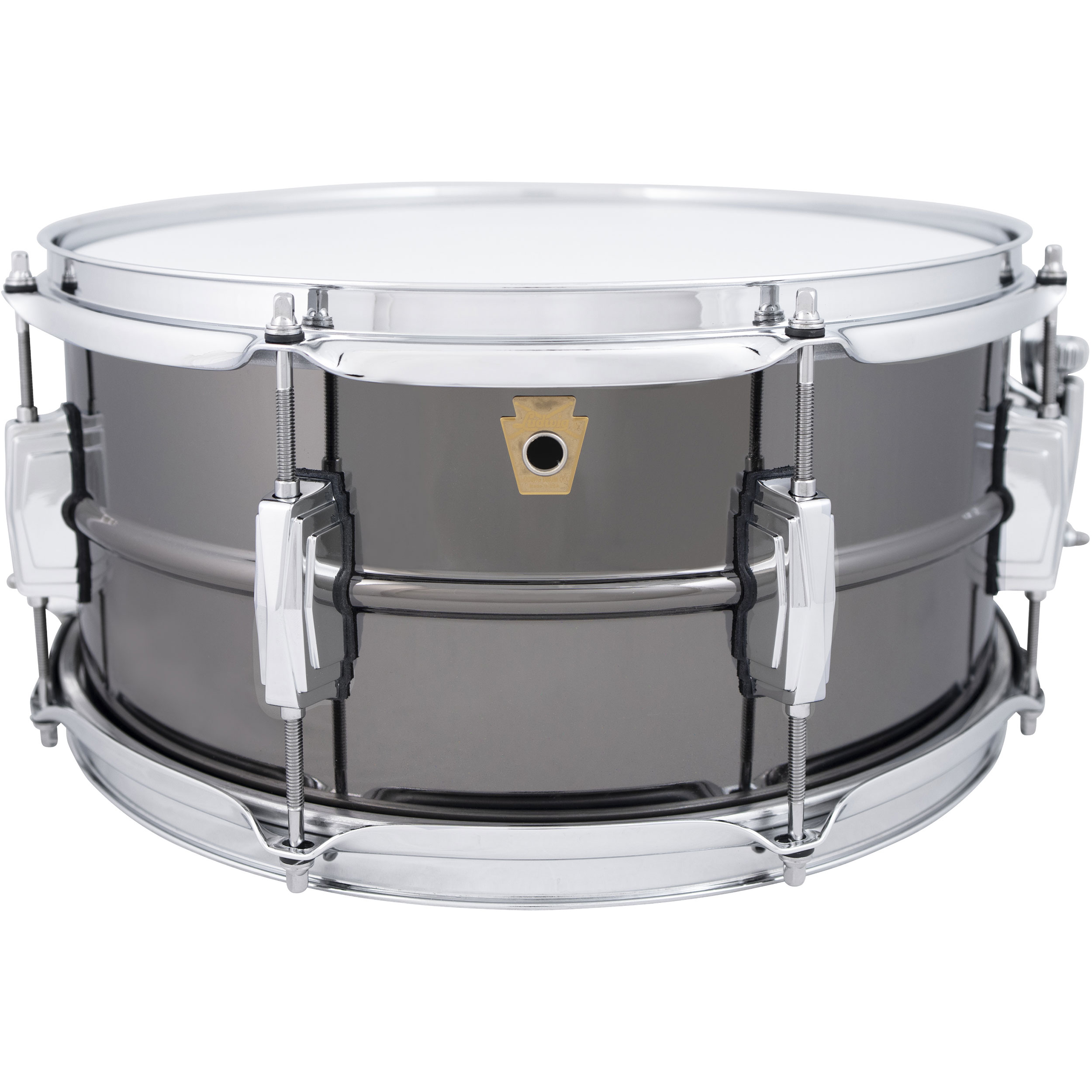 "Ludwig 6.5"" x 14"" 8-Lug Black Beauty Snare Drum with Imperial Lugs"
