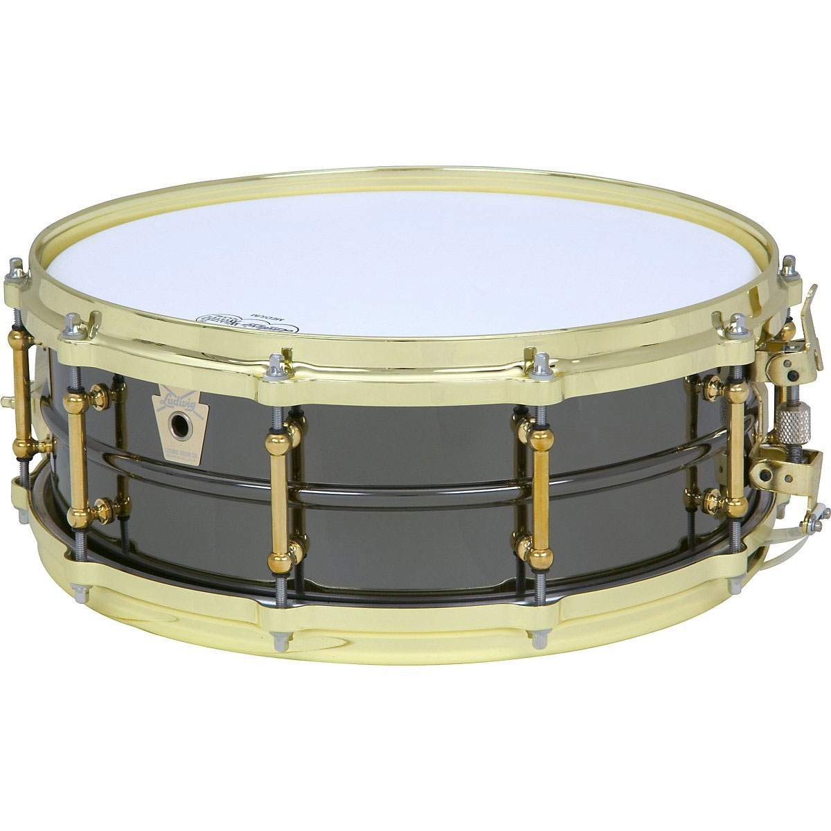 "Ludwig 5""x 14"" Black Beauty Brass on Brass Snare Drum"