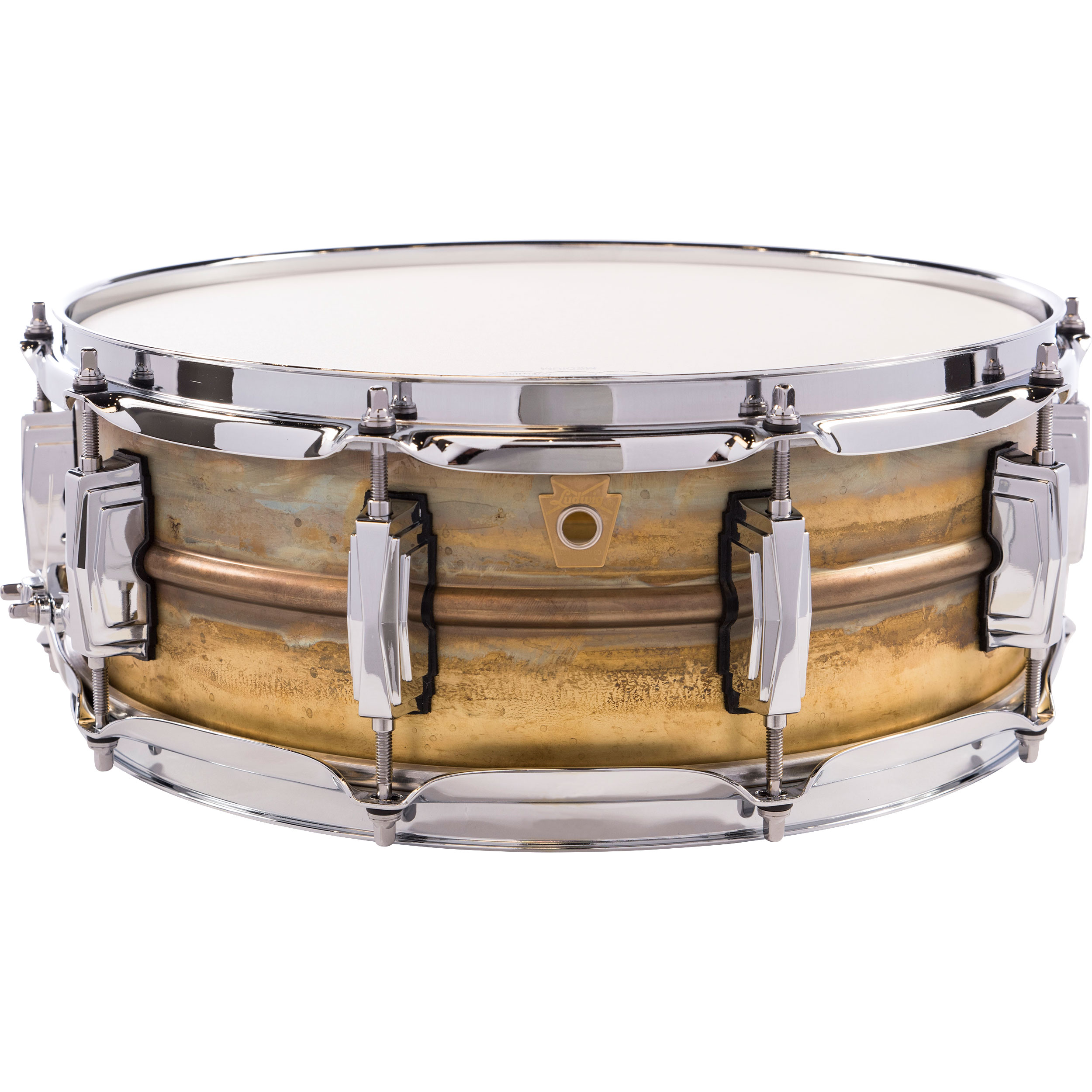 "Ludwig 5"" x 14"" Raw Brass Snare Drum"