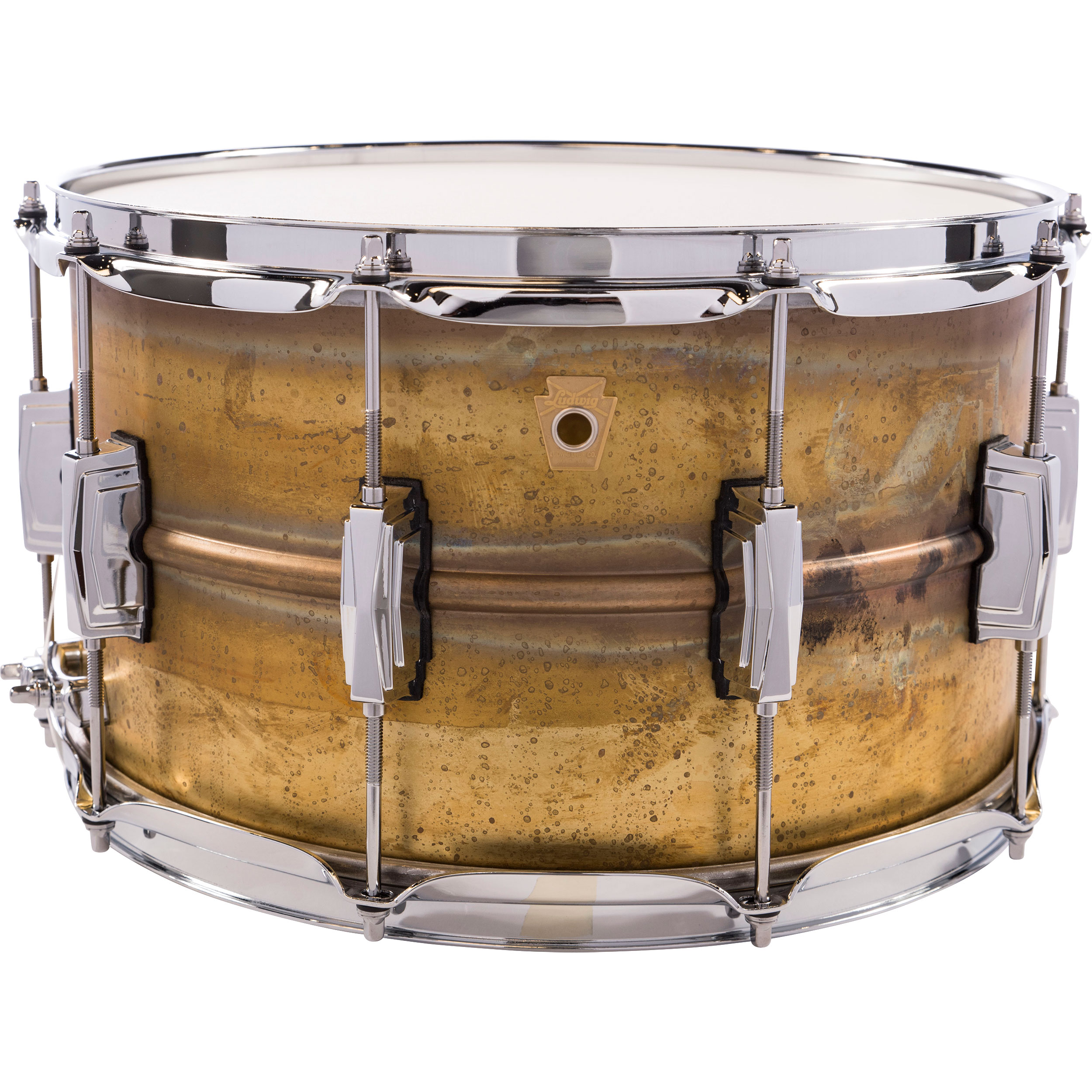 "Ludwig 8"" x 14"" Raw Brass Snare Drum"