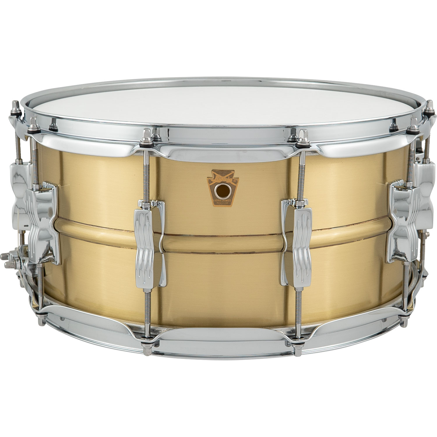 """Ludwig 6.5"""" x 14"""" Acro Brass Snare Drum"""