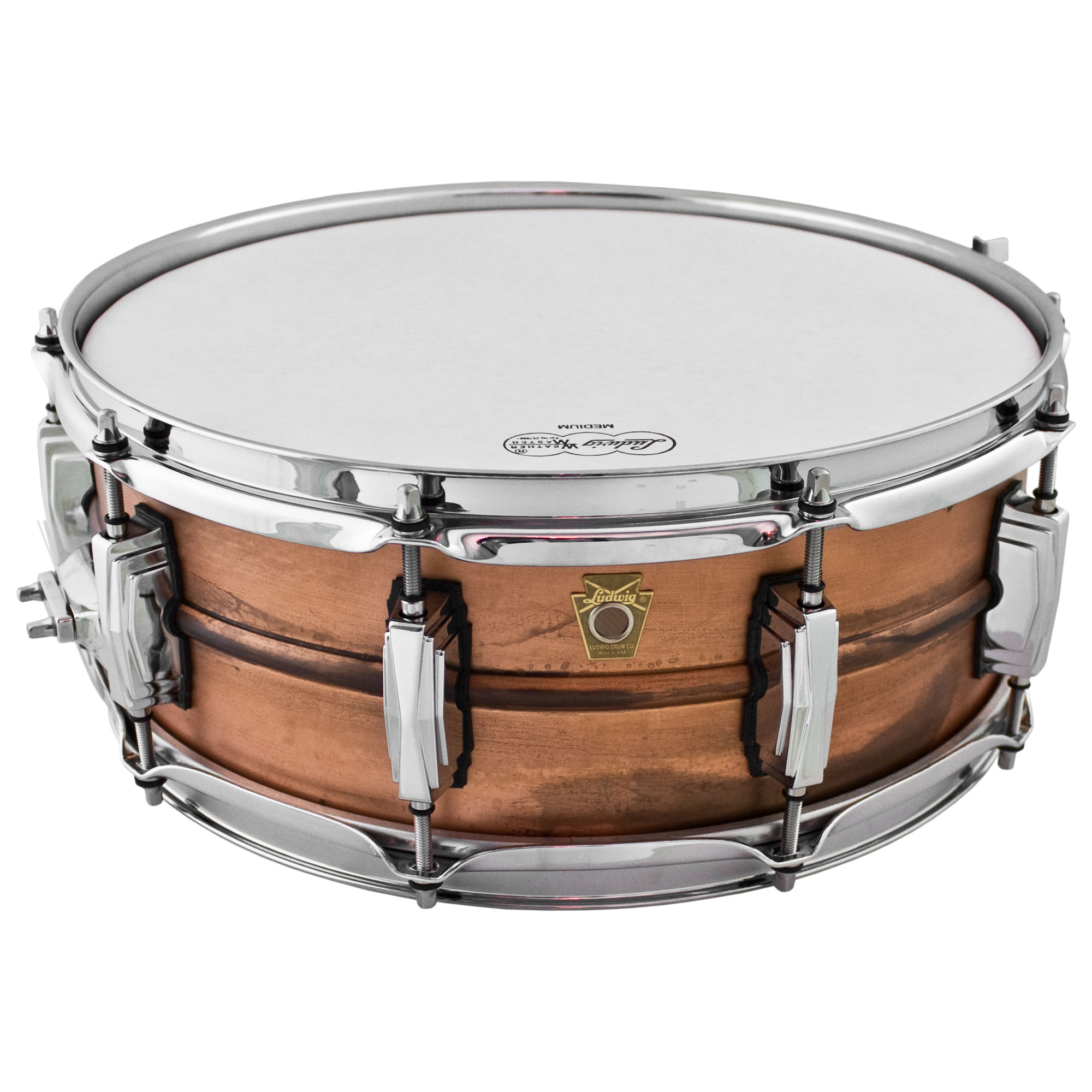 "Ludwig 5"" x 14"" Raw Copper Phonic Snare Drum with Imperial Lugs"