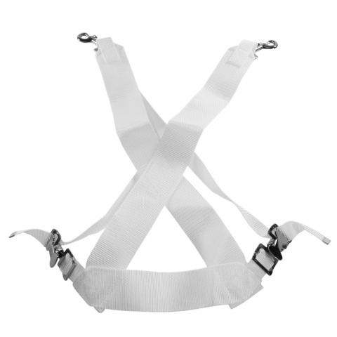 Ludwig White Small Marching Bass/Tenor Drum Sling