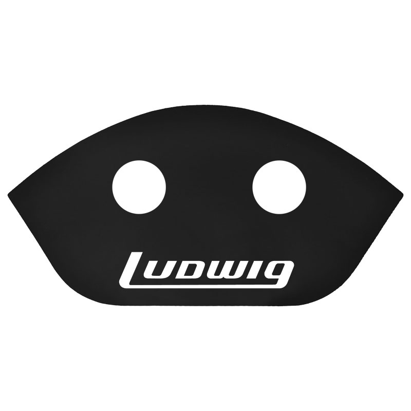 "Ludwig 14"" Black Marching Snare Sound Projector (Scoop)"