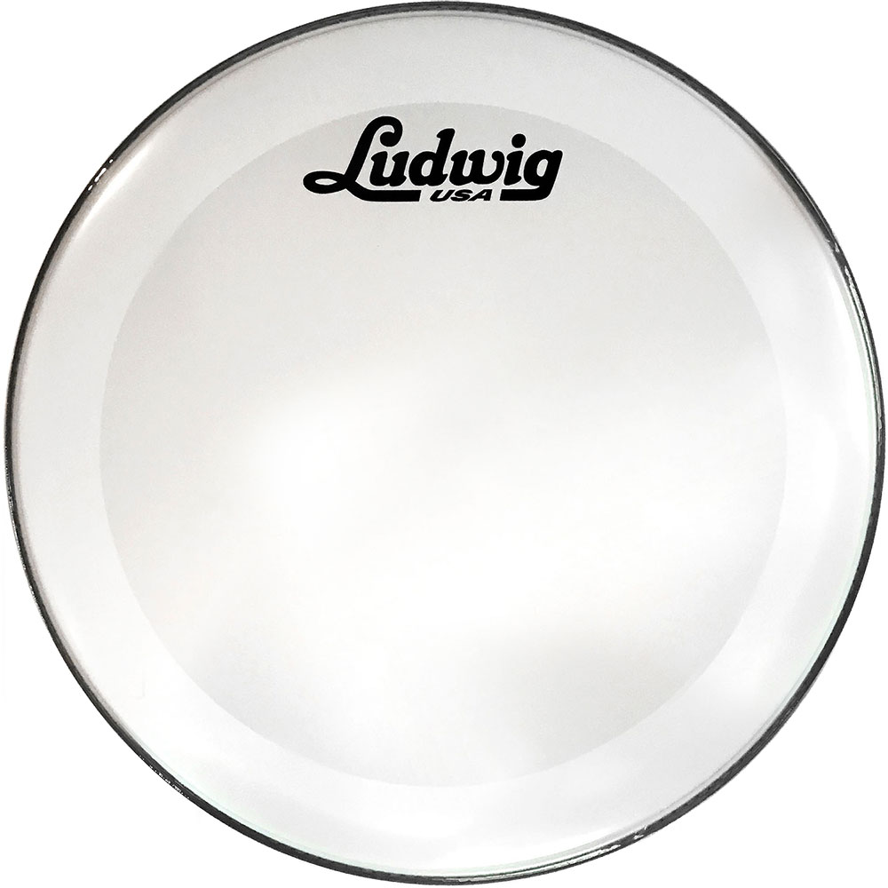 "Ludwig 20"" Powerstroke 3 Smooth White Resonant Bass Drum Head with Script Logo"