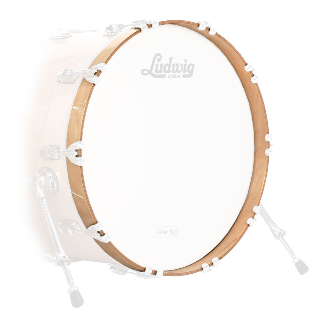 """Ludwig 40"""" Concert Bass Drum Hoop with Natural Finish"""