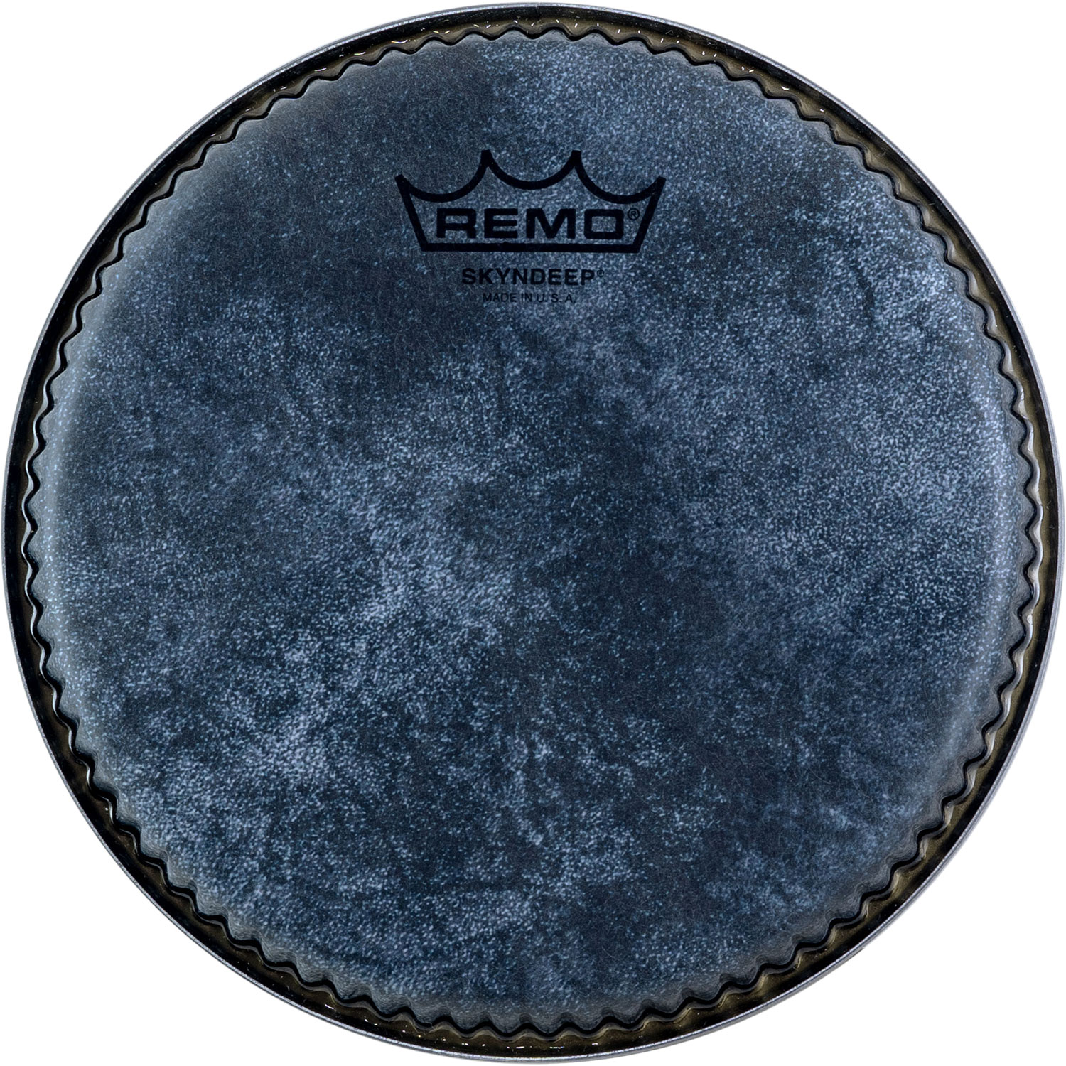 """Remo 7.15"""" R-Series Low Collar Skyndeep Bongo Head with Black Calfskin Graphic"""