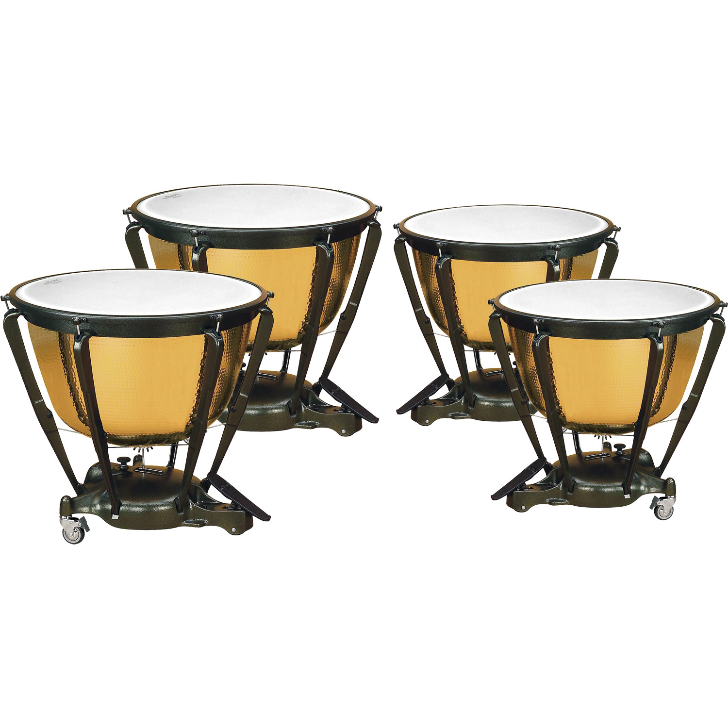 "Majestic 23/26/29/32"" Symphonic Timpani Set with Precision Hammered Copper Bowls"