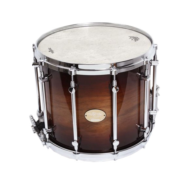 "Majestic 14"" (Diameter) x 12"" (Deep) Prophonic Walnut Field Drum"