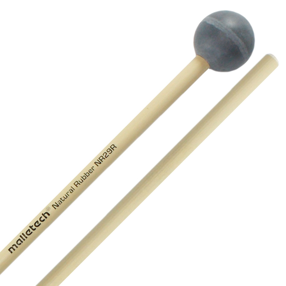 Malletech Natural Rubber Hard Xylophone Mallets with Rattan Shafts