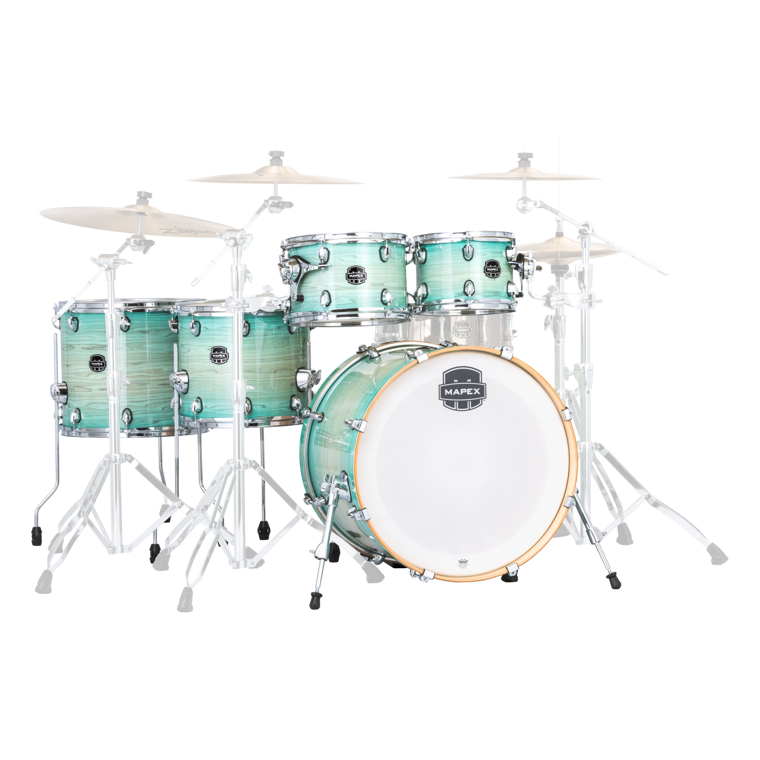 "Mapex Armory 6-Piece Studioease Fast Drum Set Shell Pack (22"" Bass, 10/12/14/16"" Toms, 14"" Snare)"