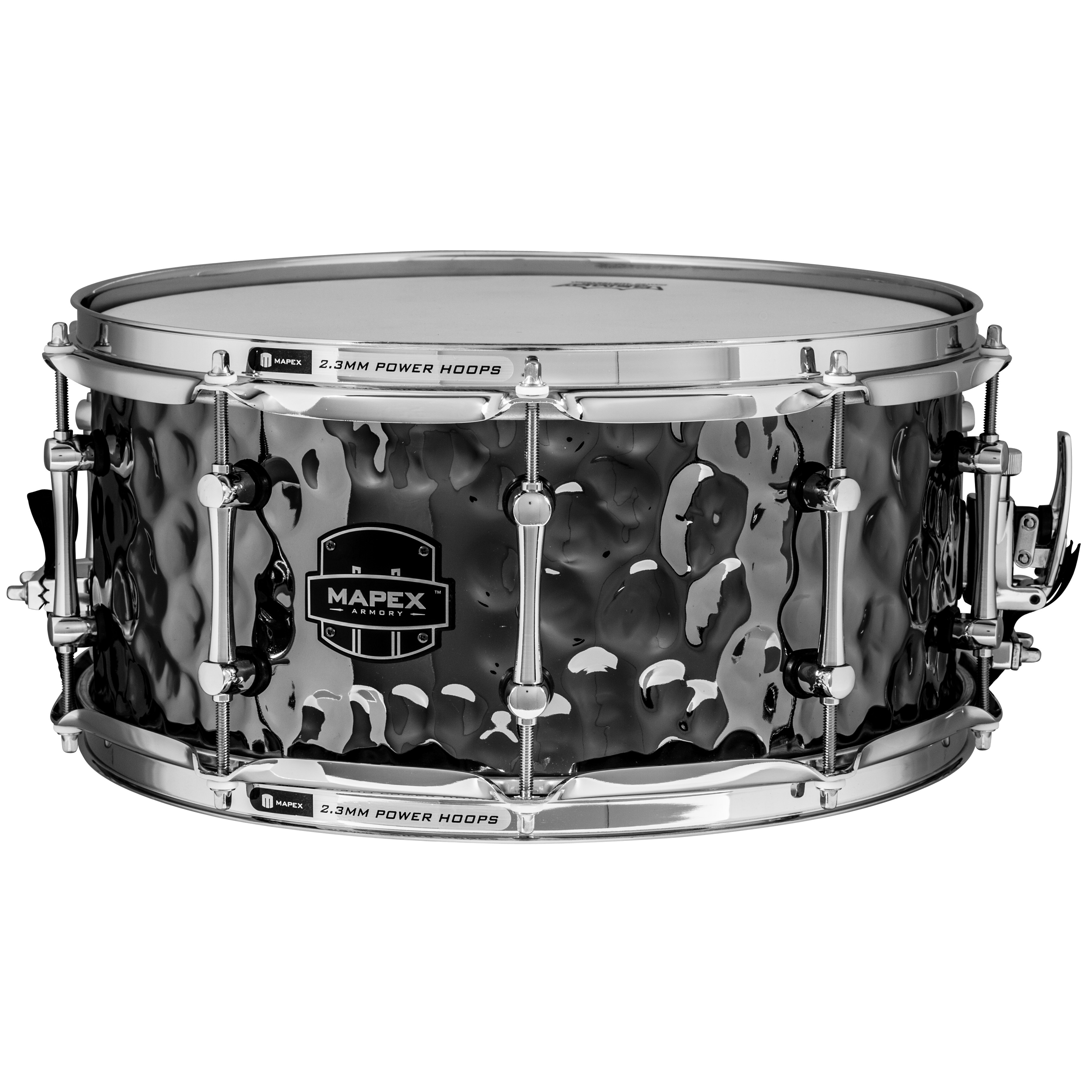 "Mapex 6.5"" x 14"" Armory Daisy Cutter Hammered Steel Snare Drum"