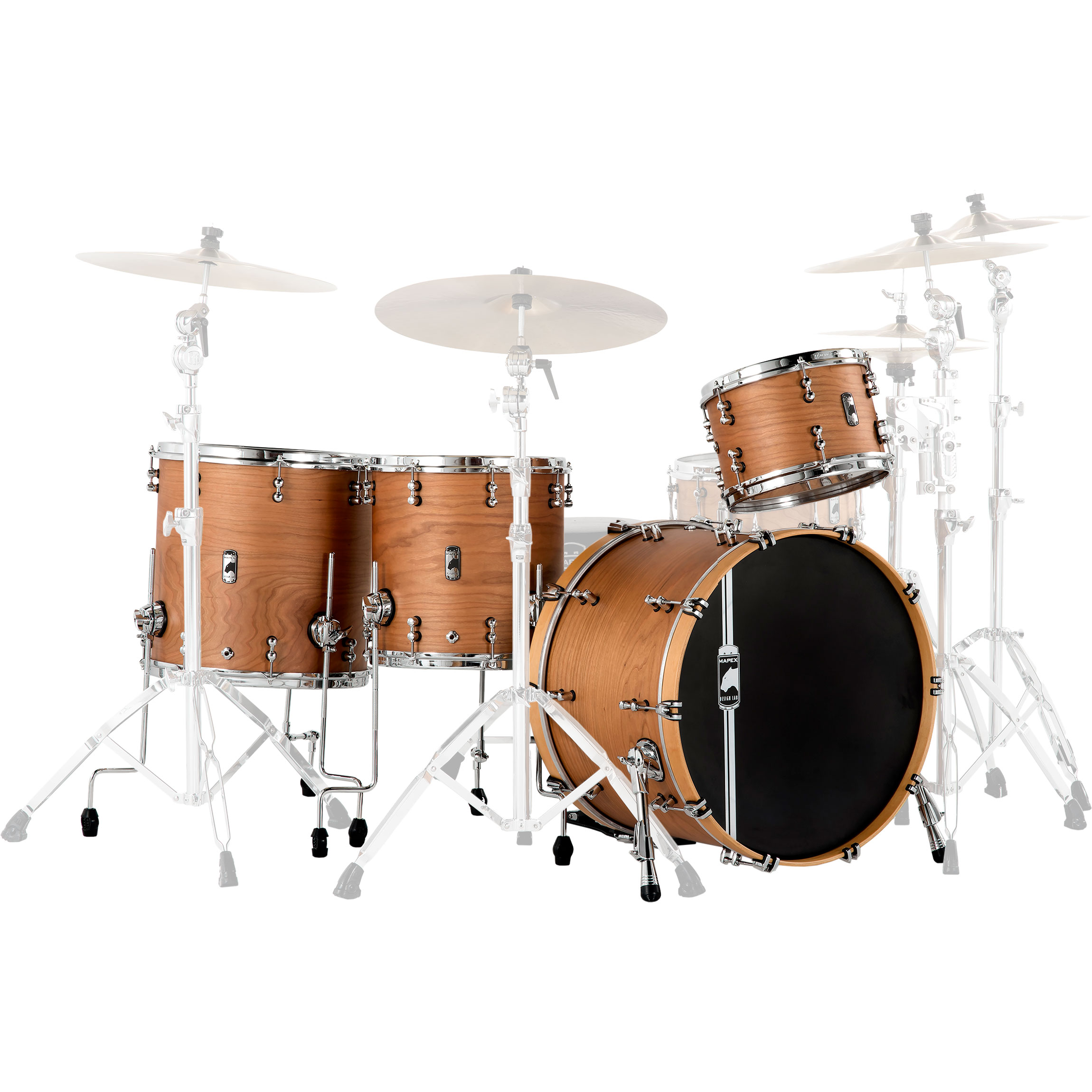 "Mapex Black Panther Design Lab 4-Piece Cherry Bomb Drum Set Shell Pack (22"" Bass, 12/14/16"" Toms)"