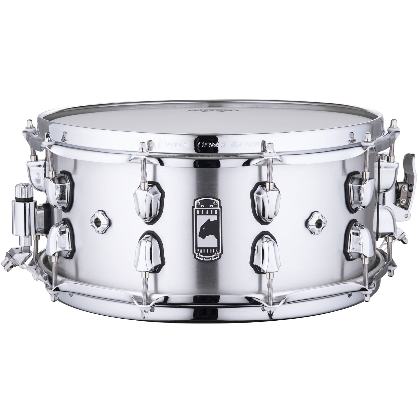 """Mapex 14"""" x 6.5"""" Black Panther """"Atomizer"""" 1.5mm Seamed Aluminum Snare Drum"""
