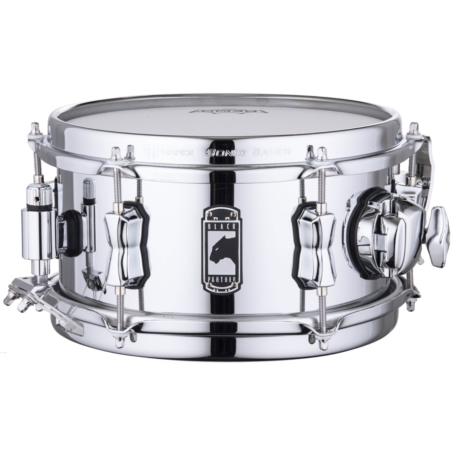 """Mapex 10"""" x 5.5"""" Black Panther """"Wasp"""" 1.0mm Seamed Steel Snare Drum"""