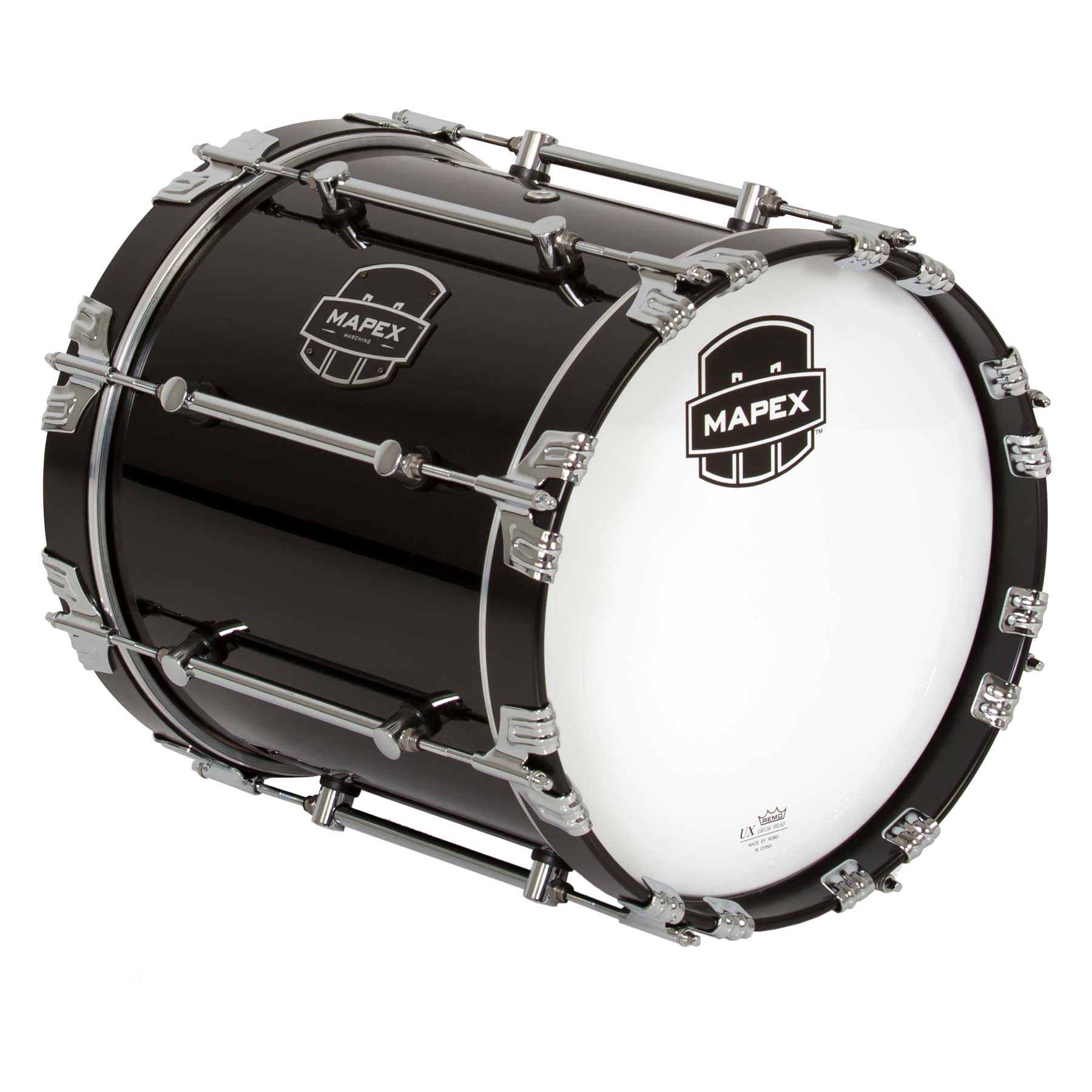 "Mapex 14"" Quantum Marching Bass Drum in Gloss Black"
