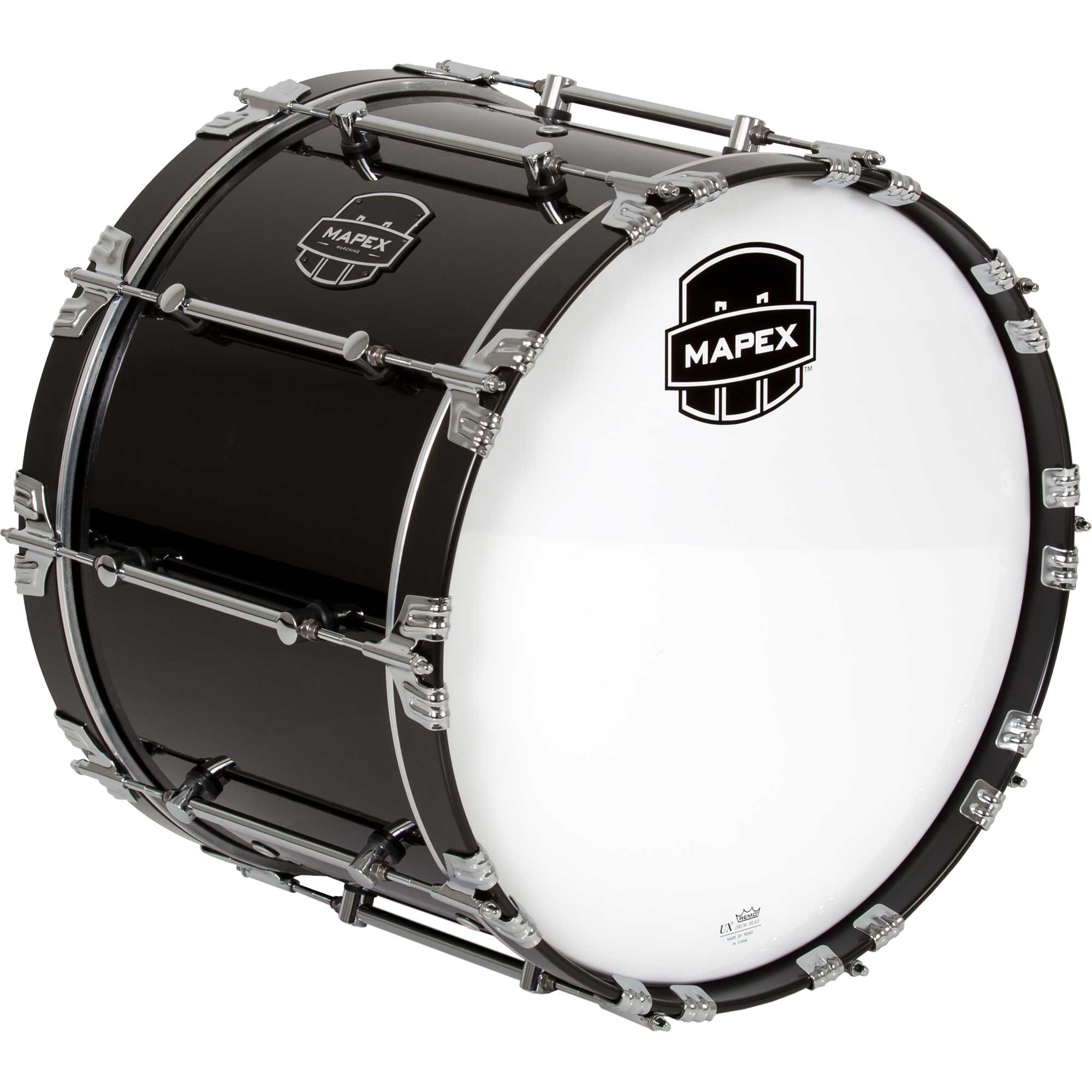"Mapex 20"" Quantum Marching Bass Drum in Gloss Black"