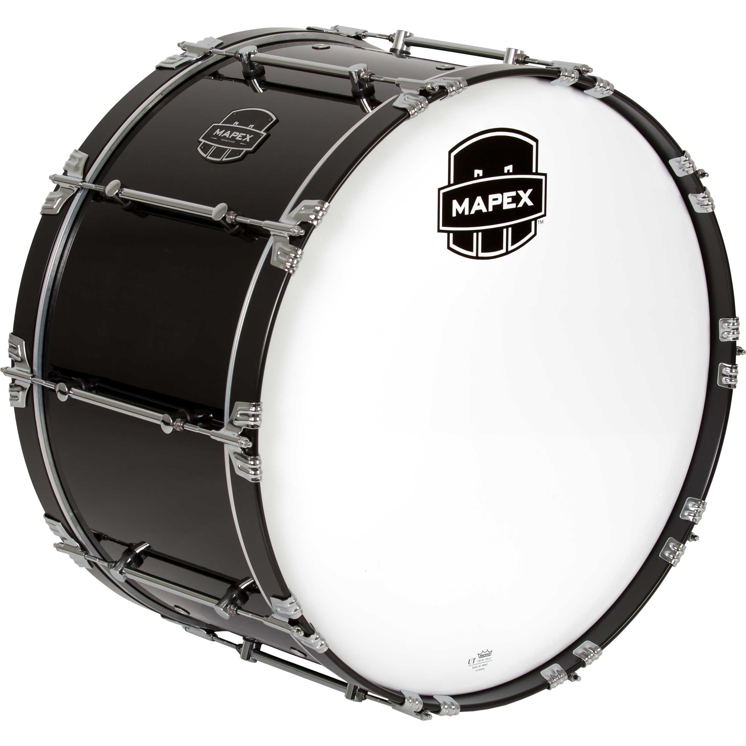 "Mapex 28"" x 15"" Quantum Marching Bass Drum in Gloss Black"