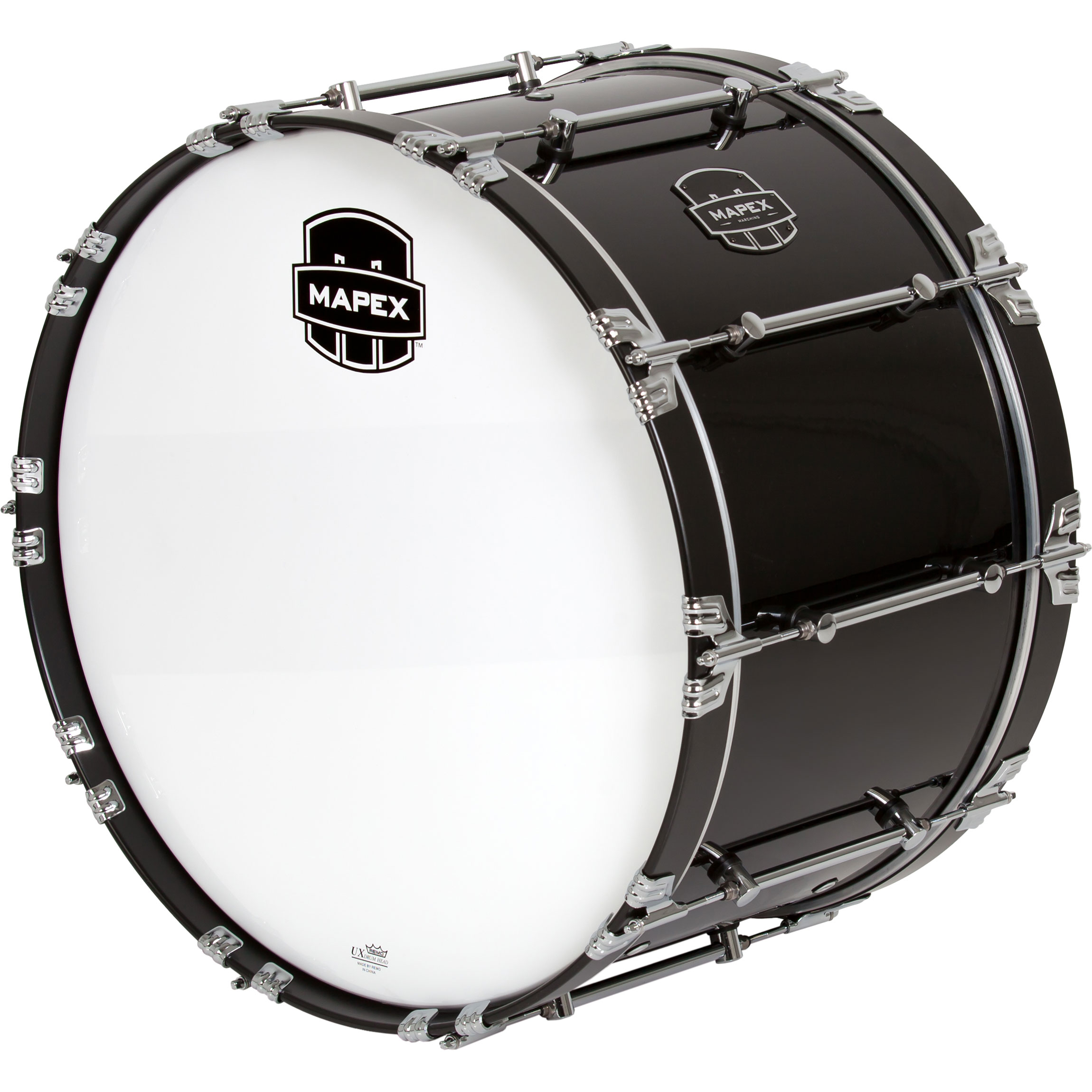 "Mapex 24"" x 14"" Quantum Mark II Marching Bass Drum in Gloss Black"