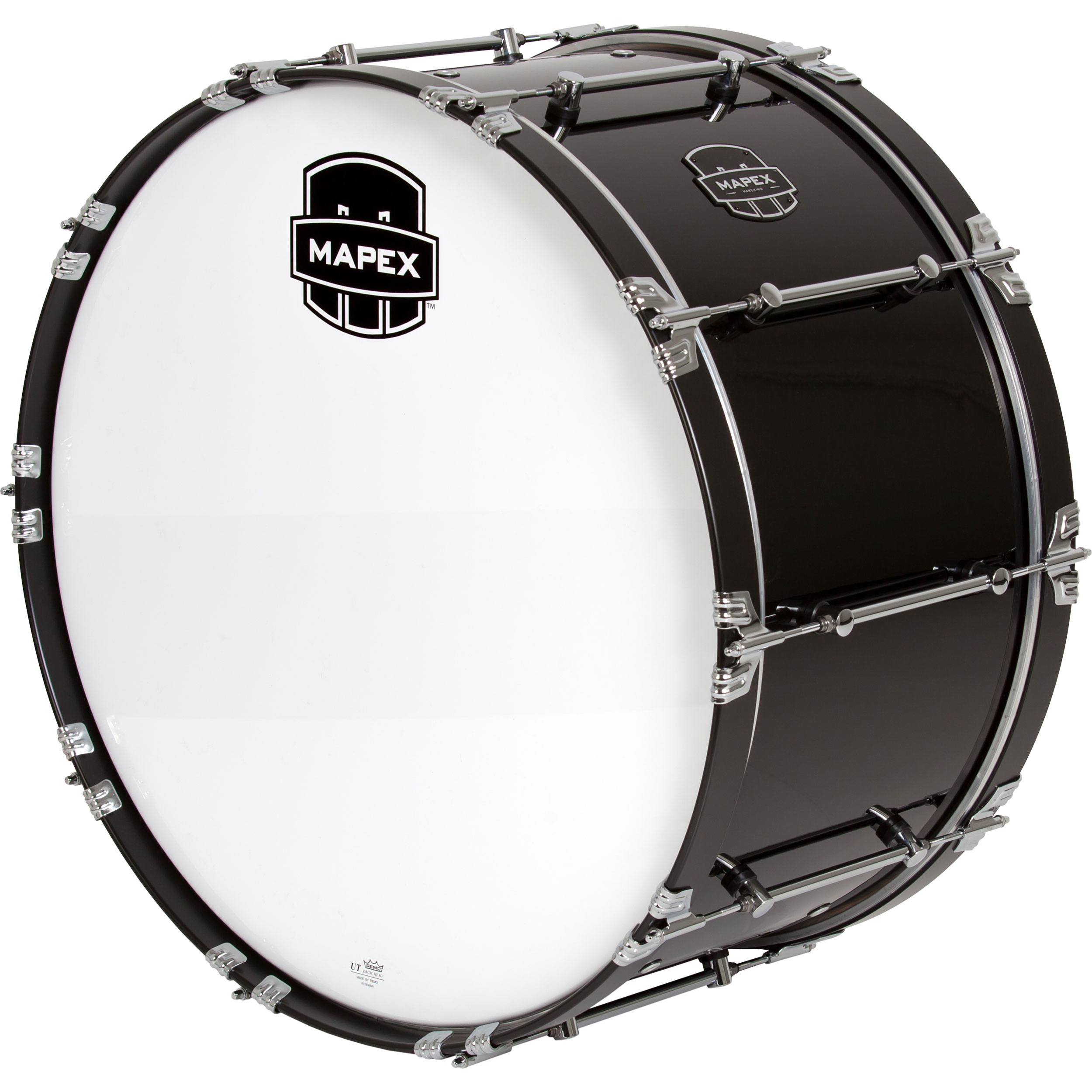 "Mapex 30"" x 14"" Quantum Mark II Marching Bass Drum in Gloss Black"