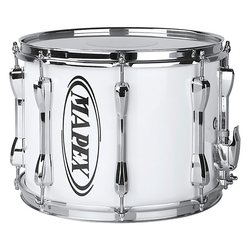 """Mapex 14"""" x 10"""" Qualifier Series Standard Marching Snare Drum in Gloss White"""