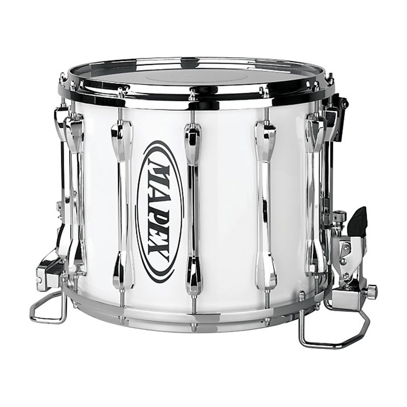 """Mapex 14"""" x 12"""" Qualifier Series Deluxe Marching Snare Drum in Gloss White"""