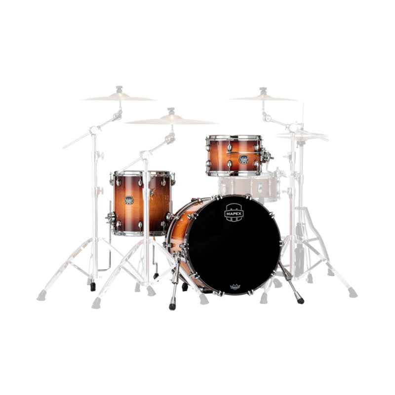 "Mapex Saturn Evolution Hybrid 3-Piece Straight Ahead Drum Set Shell Pack (20"" Bass, 12/14"" Toms)"