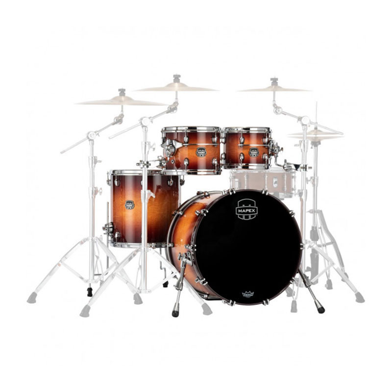 "Mapex Saturn Evolution Birch 4-Piece Fusion Drum Set Shell Pack (20"" Bass, 10/12/14"" Toms)"