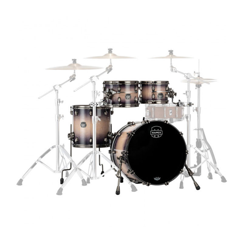 "Mapex Saturn Evolution Maple 4-Piece Rock Drum Set Shell Pack (22"" Bass, 10/12/16"" Toms)"