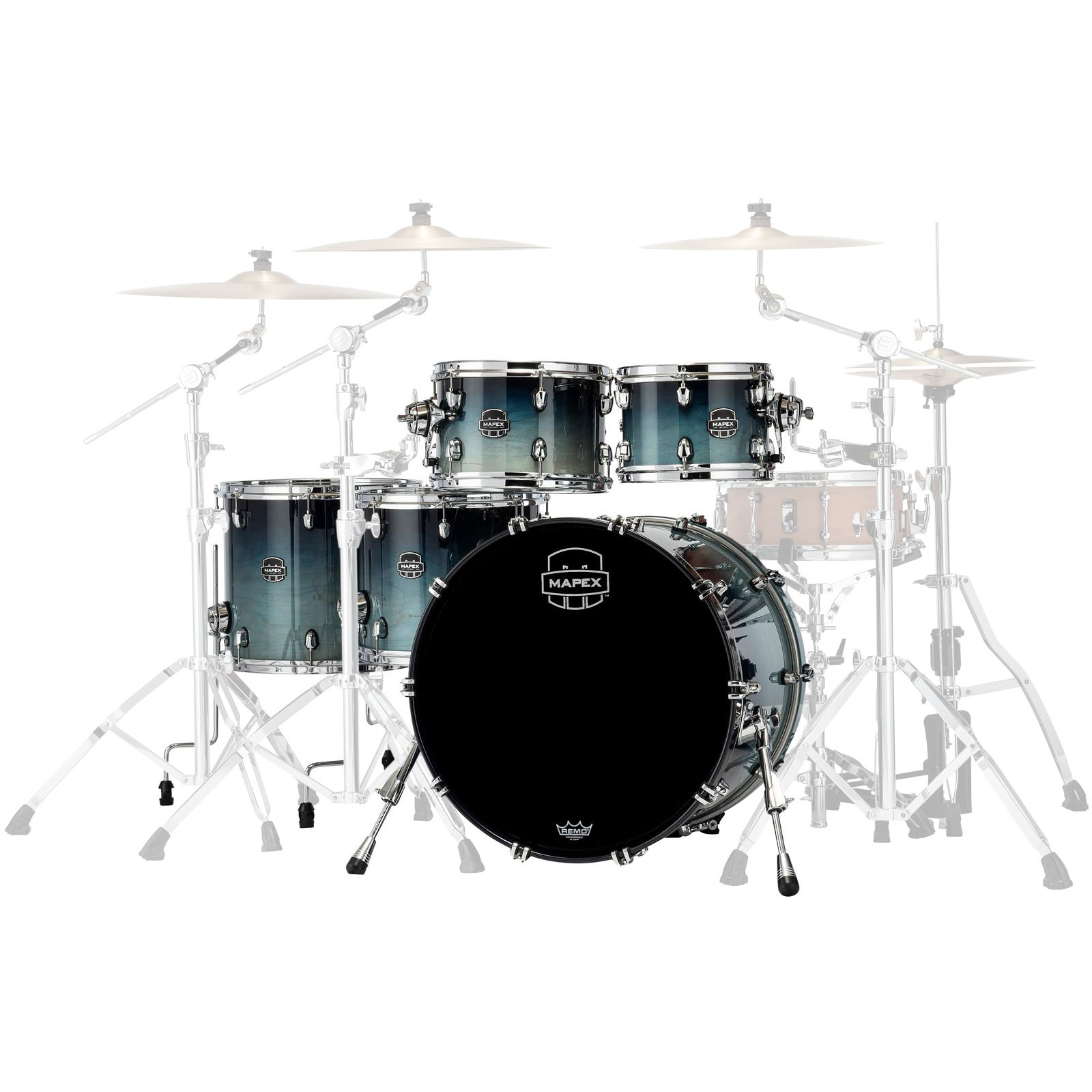 "Mapex Saturn 5-Piece Studioease Drum Set Shell Pack (22"" Bass, 10/12/14/16"" Toms)"