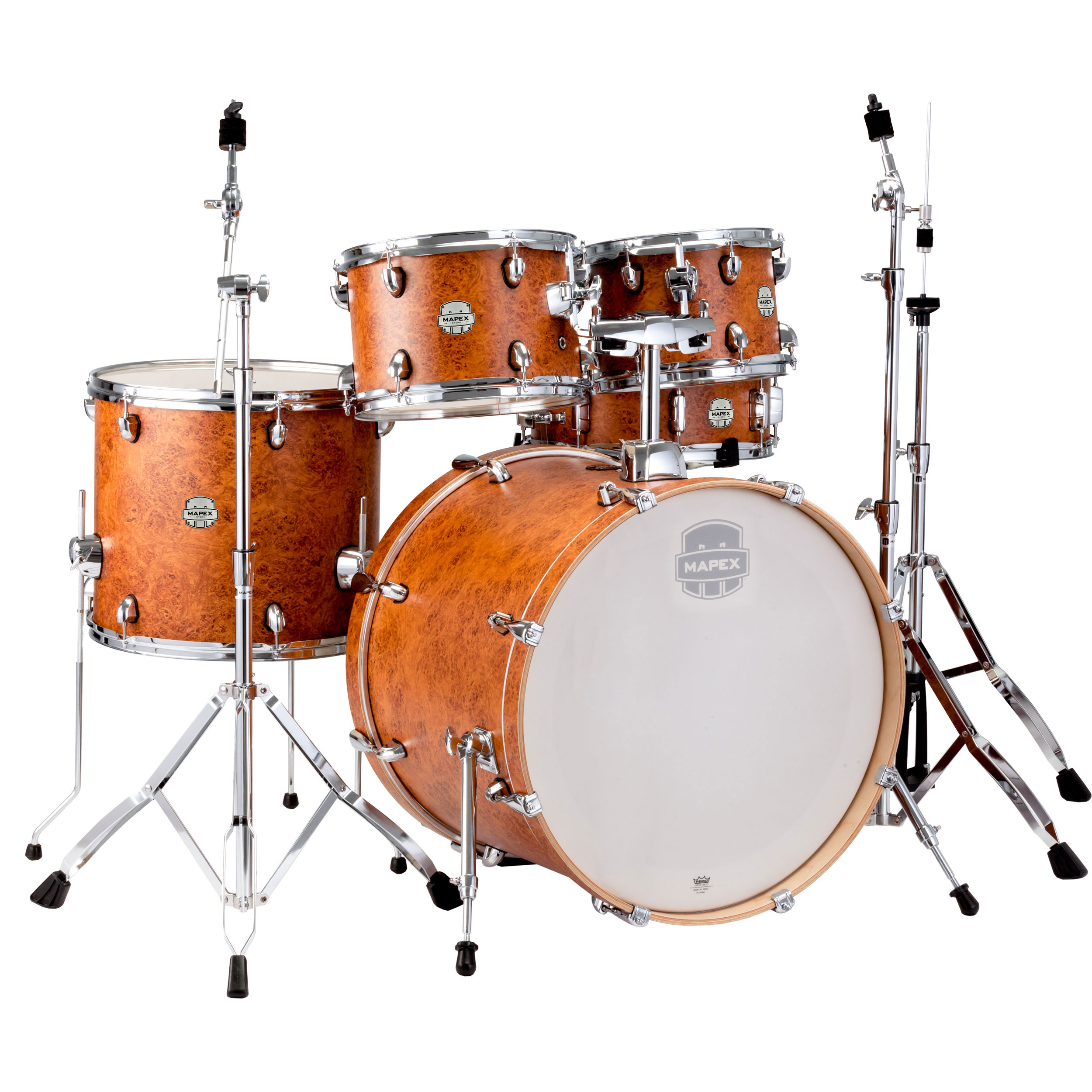 """Mapex Storm 5-Piece Rock Drum Set (22"""" Bass, 10/12/16"""" Toms, 14"""" Snare) with Hardware"""