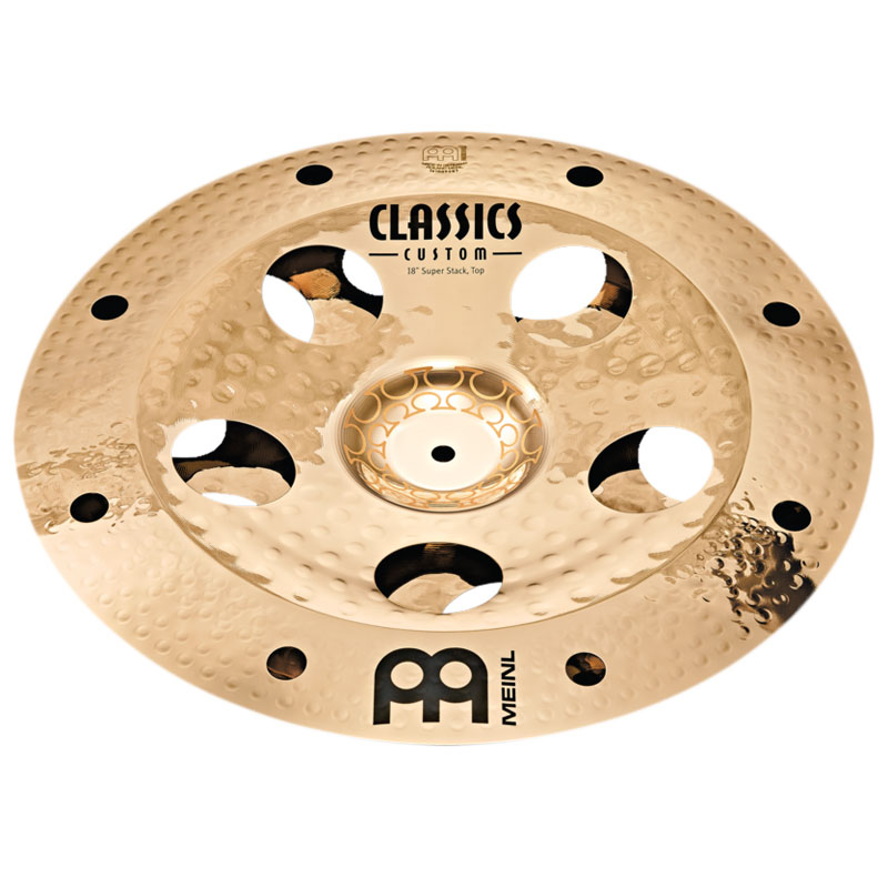 """Meinl 18"""" Artist Concept Model Thomas Lang Super Stack Cymbal Stack"""