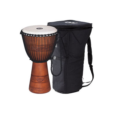 """Meinl 13"""" Original African Style Water Rhythm Rope-Tuned Wood Djembe with Bag"""