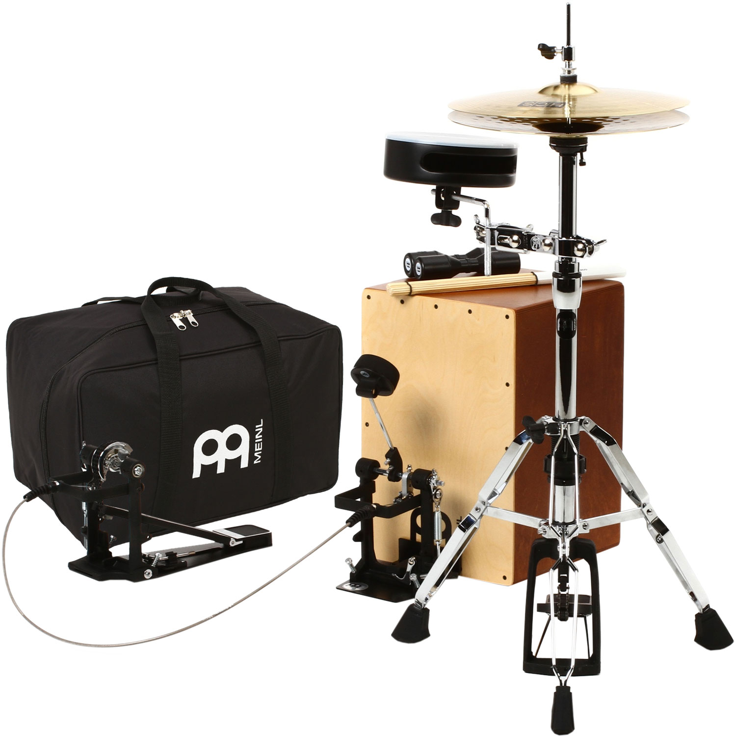 Meinl Cajon Drum Set Package with Cable Pedal
