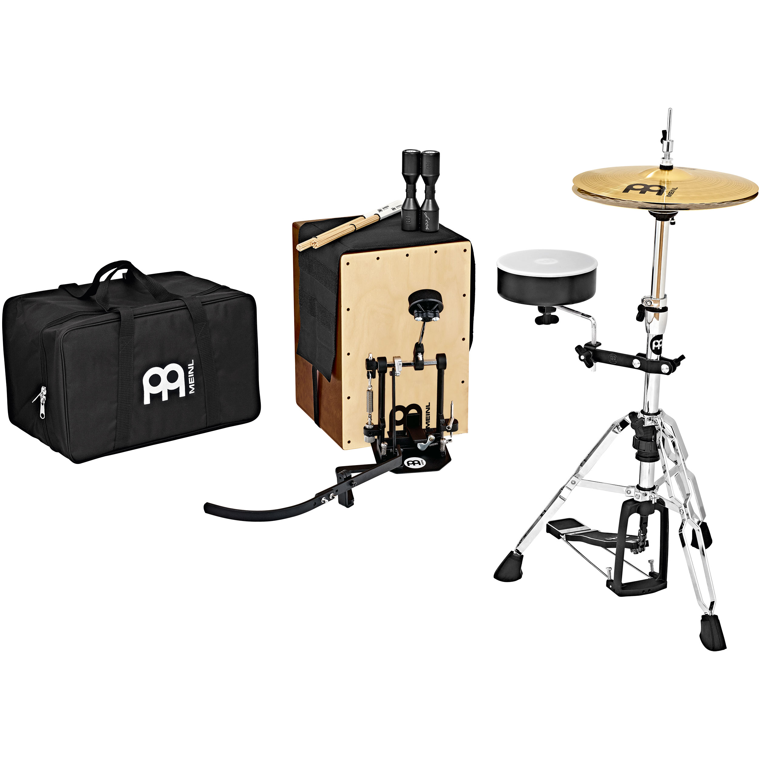 Meinl Cajon Drum Set Package with Direct Drive Pedal