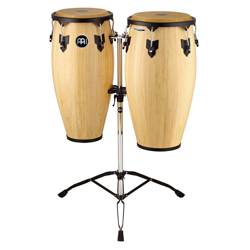 """Meinl 11"""" & 12"""" Headliner Series Conga Set in Natural with Stand"""