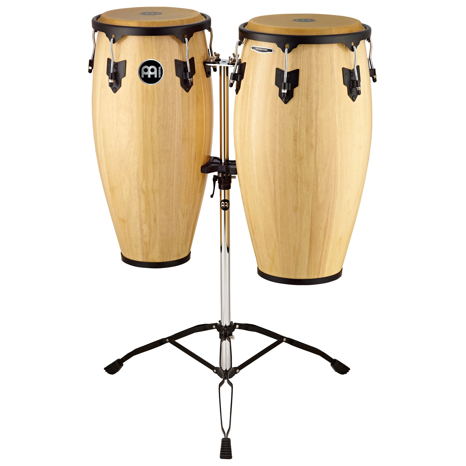 """Meinl 10"""" & 11"""" Headliner Series Conga Set in Natural with Stand"""